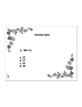 4th or 5th Grade MATH ActivInspire 5 question assessment 4