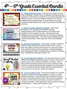 4th to 6th Grade Essential Bundle