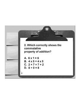 4th/5th Grade ActivInspire 5 question assessment 4.NBT.B.5 (Properties)