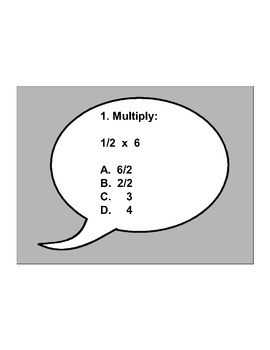 4th/5th Grade ActivInspire 5 question assessment 4.NF.B.4