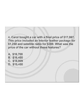 4th/5th Grade ActivInspire 5 question assessment 4.OA.A.3 (Problem Solving)