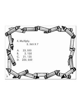 4th/5th Grade ActivInspire 8 question assessment 4.NBT.B.5 (Multiplication) 2