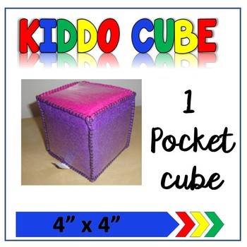 """4""""x 4"""" Learning Cube with pockets"""