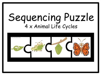 4x Animal Sequencing Puzzles