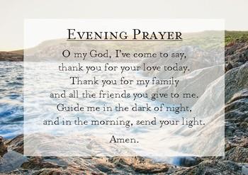 4x Daily Prayer Cards