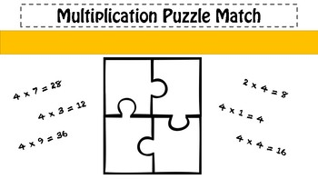 4x Table Puzzle Match