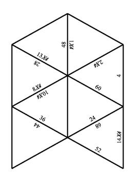 4x tables puzzle