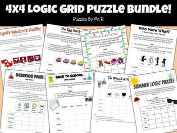 4x4 Logic Grid Puzzle Bundle!