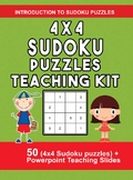 4x4 Sudoku Puzzles Teaching Kit