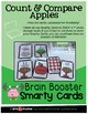 SMARTY CARDS - COUNT AND COMPARE APPLES (Store in 4x6 IRIS BOX )