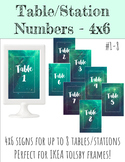 4x6 Table/Station Signs - Teal Galaxy