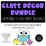 Class Decor Bundle (Editable): Cute Birds
