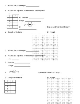 5.1 Day 2 Notes - Graphing Exponential Functions