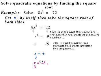 5-1 Quadratic equations