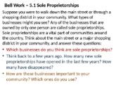 5.1 Sole Proprietorships POWERPOINT (Economics)