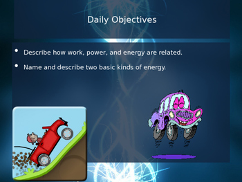 5.1 What is Energy - Work, Power, and Energy -  Kinetic and Potential PowerPoint