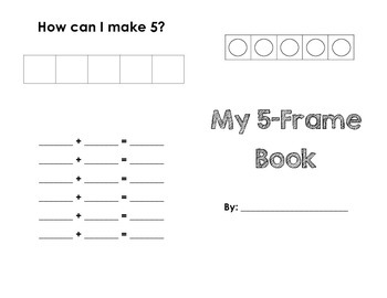 5 & 10 Frame Mini-Book (Pair-Wise and Five-Wise)