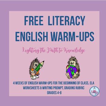 FREE...Literacy Activity(English Warm-Ups)