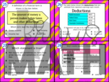 5.10B: Gross & Net Income STAAR Test-Prep Task Cards (GRADE 5)