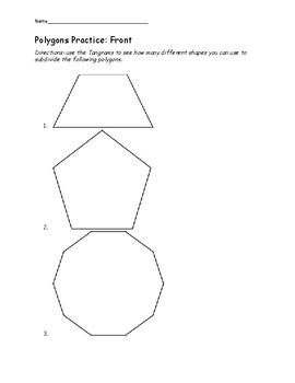 5.14 Polygon Tangram Activity Sheet