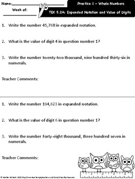 5.2A Math RTI Resource