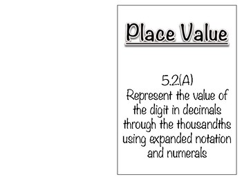 5.2A - Place Value Book