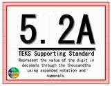 5.2A TEKS: Place Value Math Task Cards