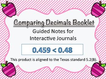 5.2B - Comparing Decimals Book
