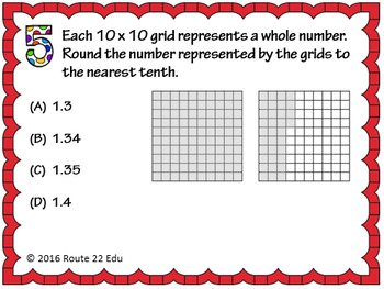 5.2C Rounding Decimals to the Tenths and Hundredths Task Cards TEKS 5.2C