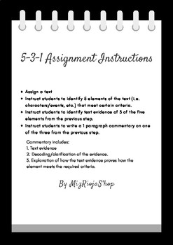 5-3-1 Commentary - ACE Paragraph assignment