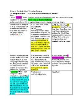 5.3-5.4 High Group Chapter 5 Go Math