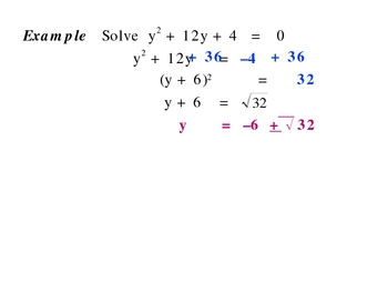 5-3 Completing the square
