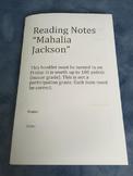 Reading Street 5.3 Week 4 Mahalia Jackson Reading Notes St