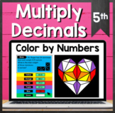TEKS 5.3E ✩ Decimal Multiplication ✩ Google Sheets Coloring Activity