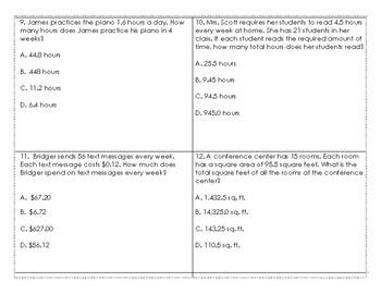 5.3E Multiplying Decimal Task Cards