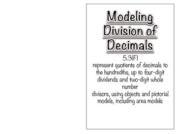 5.3F - Modeling Decimal Division Book