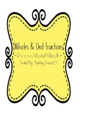 5.3J, 5.3L Divide Unit Fractions and Wholes Model Match