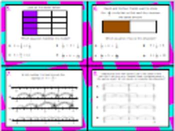 5.3J (DECK 2): Model Division of Unit Fractions STAAR Test Prep Task Cards!