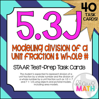 5.3J: Modeling Division of Fractions STAAR Test-Prep Task