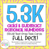 5.3K: Add & Subtract Rational Numbers STAAR Test-Prep Task