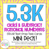 5.3K: Add & Subtract Rational Numbers STAAR Test Prep Task
