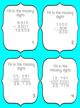 5.3K Adding and Subtracting Positive Rational Whole Numbers