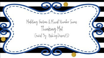 5.3K Model Fraction & Mixed Number Sums Thinking Mat