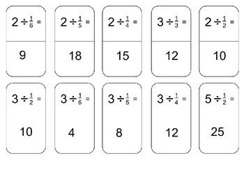 5.3L Divide Fraction Dominos