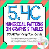 5.4C: Numerical Patterns STAAR Test-Prep Task Cards (GRADE 5)