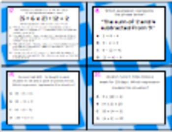5.4E (DECK 2): Understanding Parentheses STAAR Test Prep Task Cards!