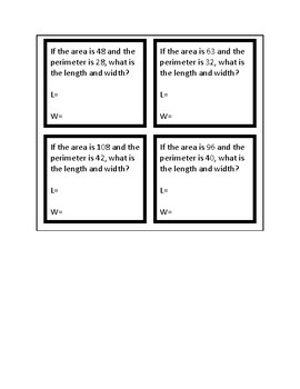 5.4H Area and Perimeter Task Cards