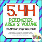 5.4H: Perimeter, Area & Volume STAAR Test-Prep Task Cards