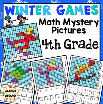 4th Grade Winter Games Math: 4th Grade Math Mystery Pictures