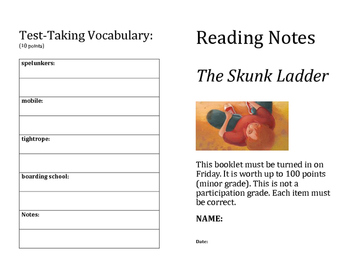 5.5.1 Reading Street The Skunk Ladder Study Booklet